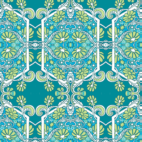 Time For Teal fabric by edsel2084 on Spoonflower - custom fabric