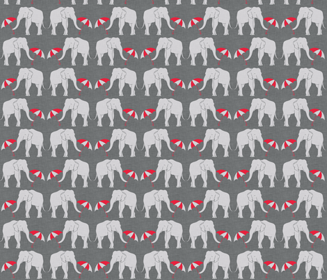 elephant and umbrella red small fabric by holli_zollinger on Spoonflower - custom fabric