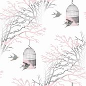 Rbranches_pink_gray_on_white_background_birdcage_swallows_seamless_shop_thumb