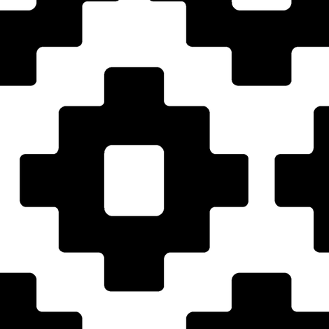 aztec in black // large scale fabric by littlearrowdesign on Spoonflower - custom fabric