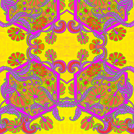 Flower Tripping 1968 Style fabric by edsel2084 on Spoonflower - custom fabric
