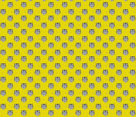 mustard tiger - elvelyckan fabric by elvelyckan on Spoonflower - custom fabric