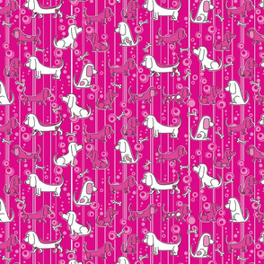 Modern Bassets (Pink)