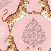 Big Cat Damask (CUSTOM SIZE)
