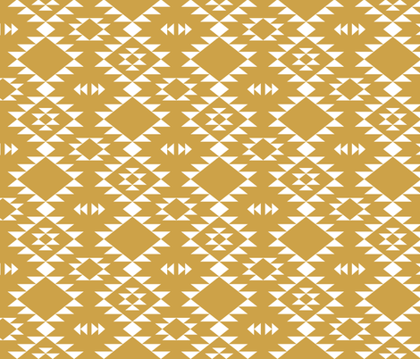 Navajo - Gold White fabric by kimsa on Spoonflower - custom fabric