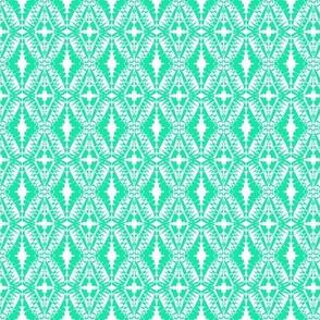 Crochet Lace Stars Aqua White