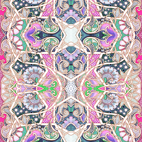 Where the Hexagons Play fabric by edsel2084 on Spoonflower - custom fabric