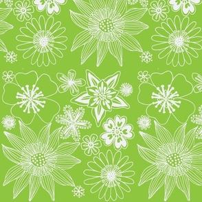 wallpaper light green and white