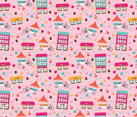 Colorful Candy Shop Lollipop And Cupcake Sugar Party Wallpaper