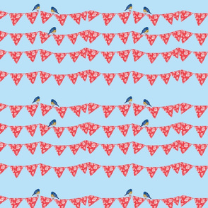 Bunting and Bluebirds-ch-ch-ch-ch-ch