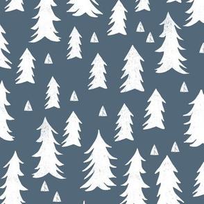 trees // blue boys baby boy nursery sweet trees forest fir tree