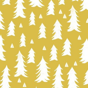 tree // trees mustard yellow kids nursery outdoors camping woodland forest
