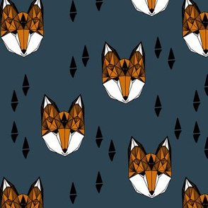 fox head // geometric fox head kids nursery baby boy nursery
