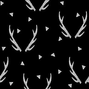 antlers // antler black and white deer antler kids baby triangles