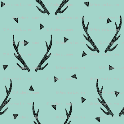 antlers // mint triangles kids baby sweet nursery baby