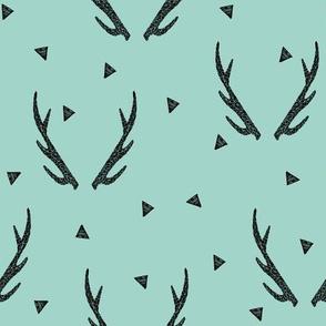 antlers // mint triangles kids baby sweet nursery baby