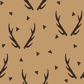 antler // brown kids boys camping hunting buck doe deer antler