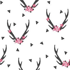 floral antlers // baby girls sweet pink flowers antlers deer antler