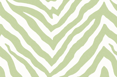 Large Scale Zebra in Spring Green 2 fabric by willowlanetextiles on Spoonflower - custom fabric