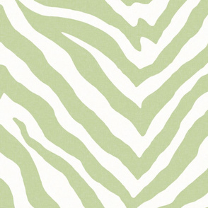 Large Scale Zebra in Spring Green 2
