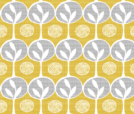 forest - large scale trees -lighter golden  fabric by ottomanbrim on Spoonflower - custom fabric
