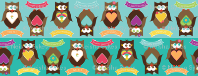 Personal Progress V{owl}ues Large Owls Blue