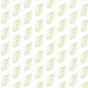 oak leaf very pale green