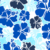 Akahai Hibiscus- Ocean Blue