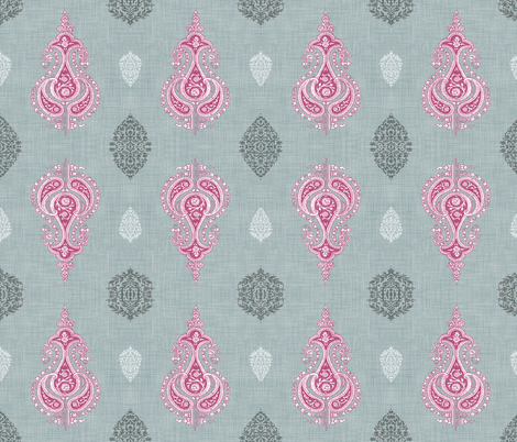 Regal Sari (in Amethyst)  fabric by nouveau_bohemian on Spoonflower - custom fabric