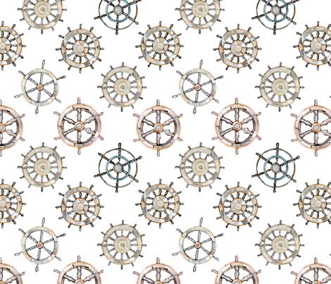 Ships Wheel fabric by emeryallardsmith on Spoonflower - custom fabric
