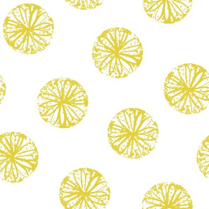 Sunburst - white and citron