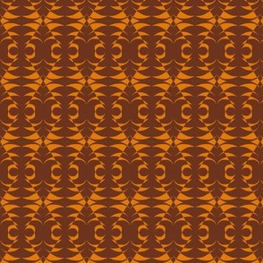 Tribal Masks Brown Orange
