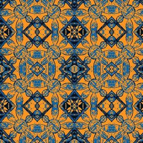 Adire - Blue on Desert Sand, alt 1