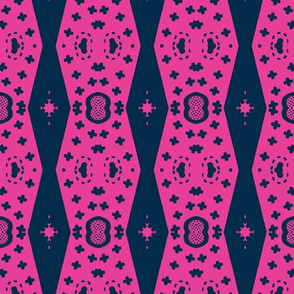 Architectural Elements in Udaipur - indigo & hot pink 2