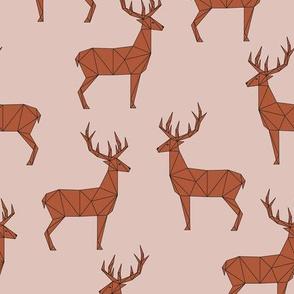 Deer - Peach Red Brown