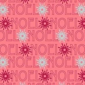 Pink Noel and Snowflakes
