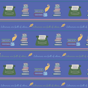 Libraries can be fun-Blue Stripe