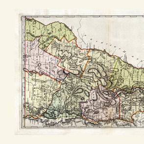 Vermont Vintage_Map_Tea_Towel_Fat_Quarter_Roostery