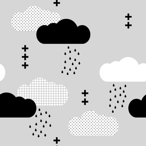 Modern Clouds // Fog fabric by littlearrowdesign on Spoonflower - custom fabric