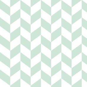 Herringbone // mint