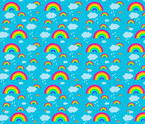 Rrainbow_fabric_design_turquoise_back_pink_rainbows_shop_preview