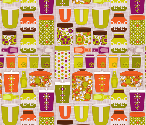 Baking canisters fabric by cjldesigns on Spoonflower - custom fabric