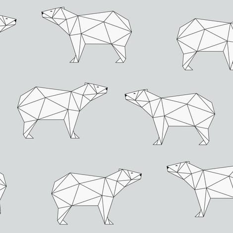 Polar Bear - Gray fabric by kimsa on Spoonflower - custom fabric