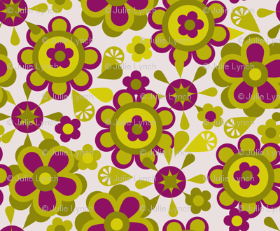 Canister floral purple