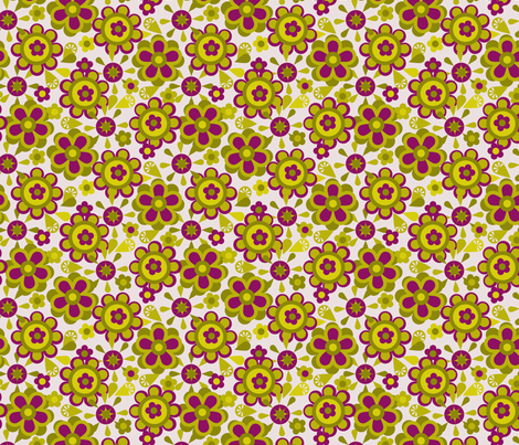 Canister floral purple fabric by cjldesigns on Spoonflower - custom fabric