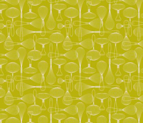 whisk it repeat green fabric by cjldesigns on Spoonflower - custom fabric