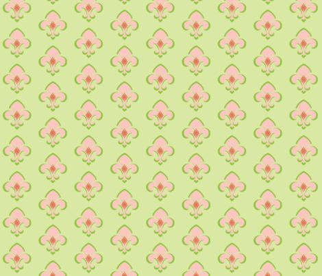 Fleur de Lis 233 - Kiwi fabric by drapestudio on Spoonflower - custom fabric