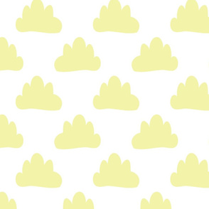 The cloud -pale yellow