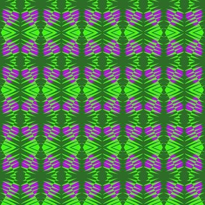 Tribal Zebras Purple Green