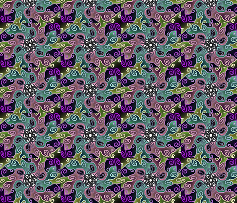 doodling fabric by charlenemcd on Spoonflower - custom fabric